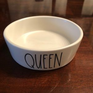 Rae Dunn Cat Small Dog Pet Bowl Queen New